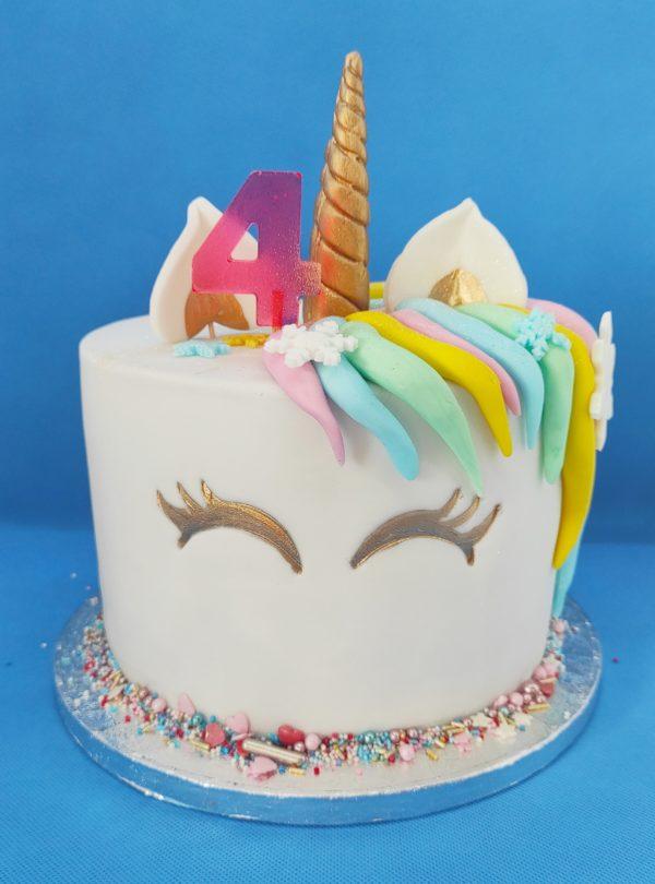 """Gâteau Anniversaire Licorne <div style=""""font-size:18px"""">(10 à 12 parts)</div> gateaux"""