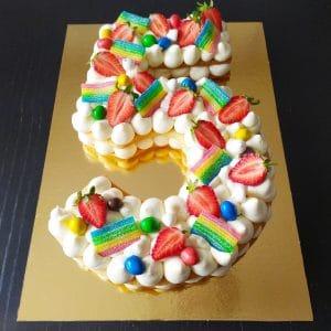 Number Cake Fruits Bonbons RécréaCakes 10 Parts 300x300