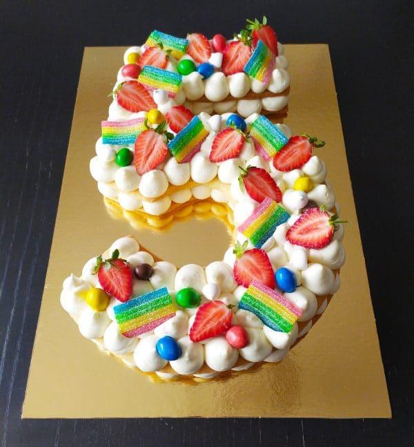 """Number cake fruits bonbons <div style=""""font-size:18px"""">(10 Parts)</div> number cakaes"""