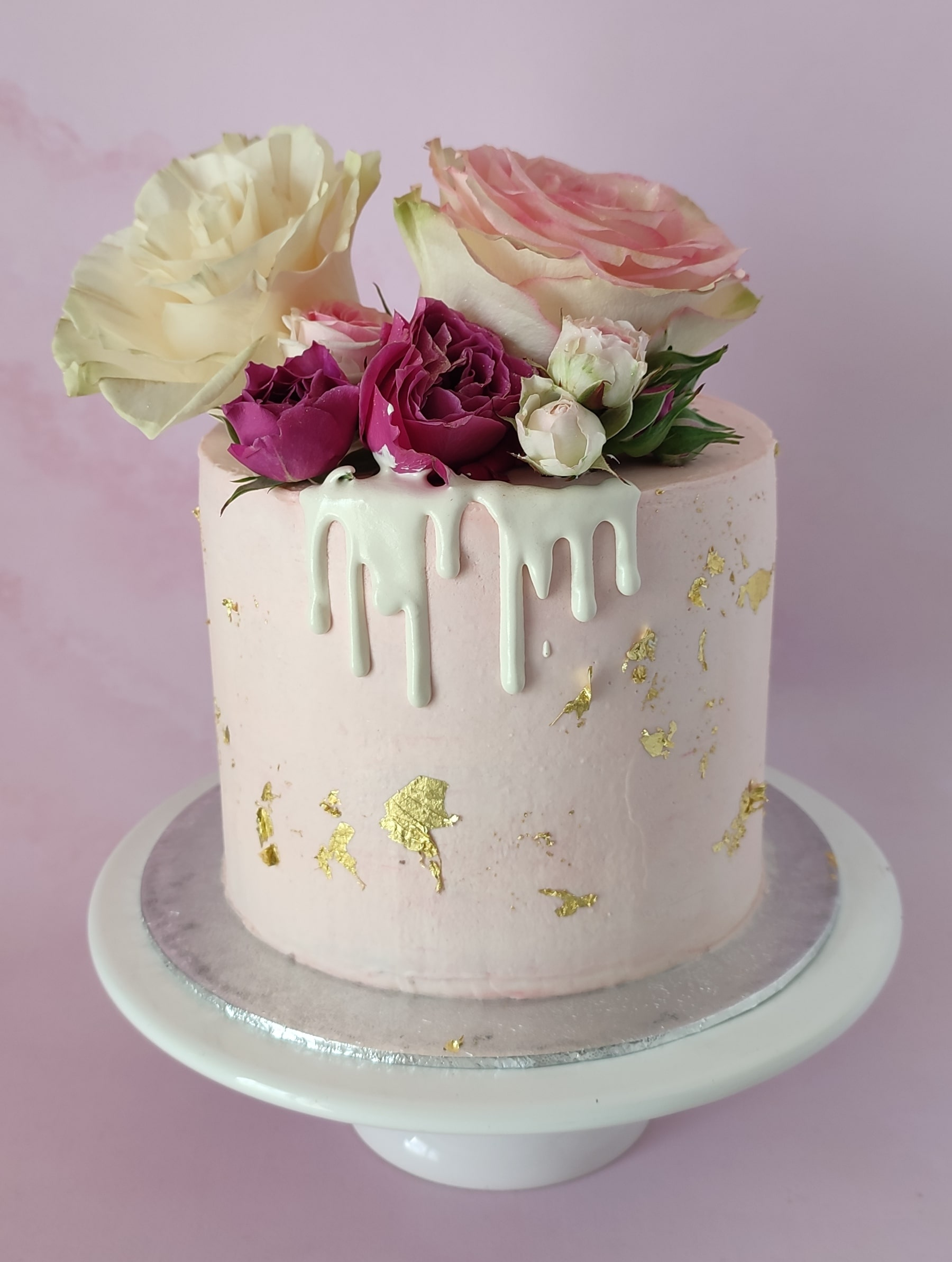 """Layer cake girly rose or <div style=""""font-size:18px"""">(10 à 12 parts)</div>"""