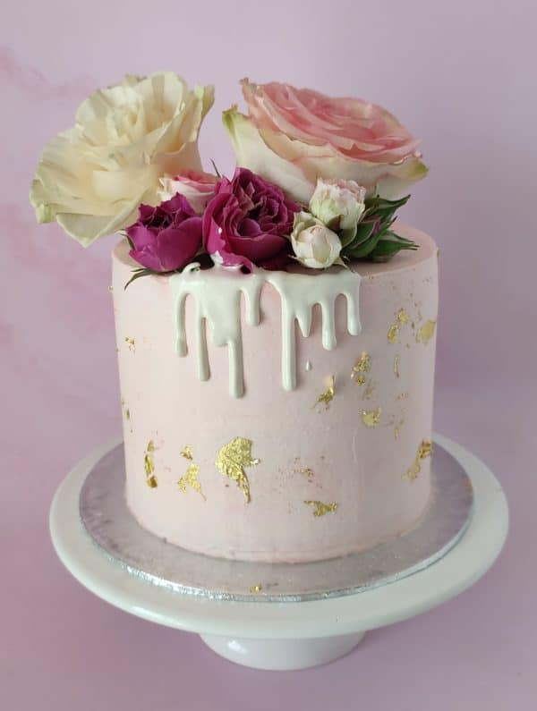 """Layer cake girly rose or <div style=""""font-size:18px"""">(10 à 12 parts)</div> gateaux"""